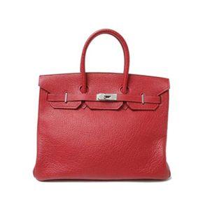 【新品同様】HERMES(エルメス) バッグ バーキン35 ブッフルスキッパー 赤 シルバー金具 - 拡大画像