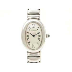 【現品限り】Cartier(カルティエ) ベニュワール WG ブレスタイプ 時計 K18WG 文字盤:ホワイト 【中古A】 - 拡大画像
