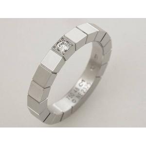 【現品限り】Cartier(カルティエ) ラニエールリング WG 1Pダイヤ #48 【新品同様】 - 拡大画像