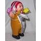 【ペルー産】伝説のエケッコー人形19cm オレンジ(ミドルサイズ) - 縮小画像3