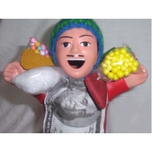 【ペルー産】伝説のエケッコー人形 19cmレッド(ミドルサイズ) - 拡大画像