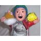【ペルー産】伝説のエケッコー人形 19cmレッド(ミドルサイズ) - 縮小画像1