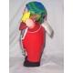 【ペルー産】伝説のエケッコー人形 19cmレッド(ミドルサイズ) - 縮小画像2