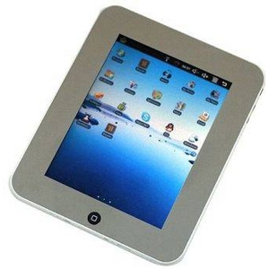 EKEN MID eBookリーダー M003 シルバー (8インチ液晶 Android OS 1.6搭載) - 拡大画像