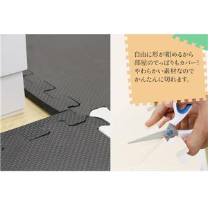 やさしいジョイントマット 約8畳(144枚入)本体 レギュラーサイズ(30cm×30cm) ブラック(黒)単色 〔クッションマット 床暖房対応 赤ちゃんマット〕 商品写真4