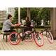 20インチ折畳自転車カラータイヤモデル ブラック×レッド - 縮小画像4