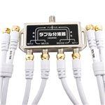 HORIC(ホーリック) アンテナダブル分波器 ケーブル4本付属 1m HAT-WSP010