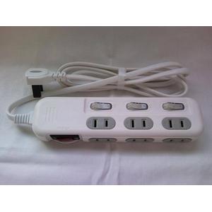 OAタップ 6個口 コンパクトで使いやすい HT06-844WH-2 ホワイト 2個セット - 拡大画像