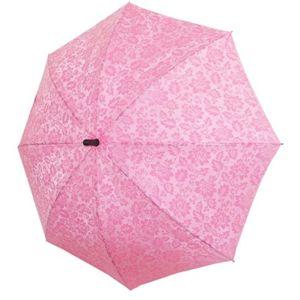 柄が浮き出るワンタッチ開閉傘 ピンク - 拡大画像