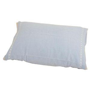 パイル枕カバー Mサイズ4枚セット Bセット/(テープ)ホワイト2枚、ブルー2枚 - 拡大画像