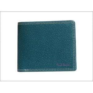 Paul Smith(ポールスミス) 小銭入れ付き 2つ折財布 ターコイズ PSP617-37 - 拡大画像