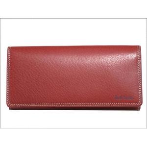 ポールスミス ファスナー式小銭入れ付き 長財布 ピッグスキン レッド PSP619-20 - 拡大画像