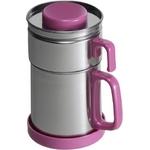 油こし器/オイルポット 【ピンク】 フィルター付き 日本製 『カラーコスロン』 〔キッチン用品 調理グッズ〕