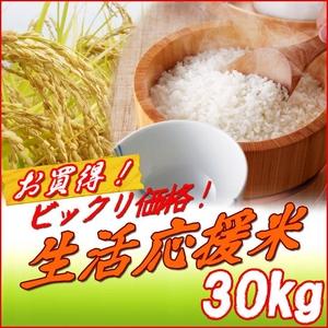 生活応援米 白米30kg 【竹】(30kg×1袋) - 拡大画像