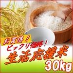 生活応援米 白米30kg  【梅】(10kg×3袋)