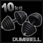 ダンベル 【10kg×2個セット】 計20キロ 〔筋トレグッズ〕