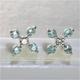 K18WG(18金ホワイトゴールド)パライバトルマリン&ダイヤモンドピアス - 縮小画像1