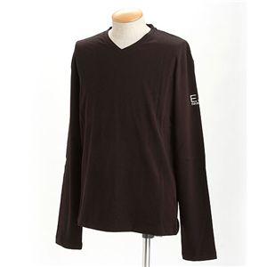 EMPORIO ARMANI(エンポリオ アルマーニ) ロゴプリントロングTシャツ 273117-0S206/【B】ブラックXXXL - 拡大画像