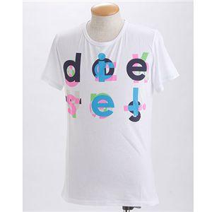 DIESEL(ディーゼル) メンズ プリントTシャツ BMOWT-OTSK CG5U-00EKW ホワイト EUサイズM - 拡大画像