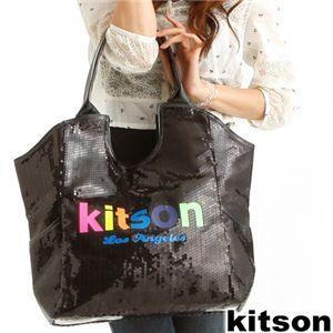 Kitson(キットソン) SEQUIN NEON LOGO TOTE 3879・Black - 拡大画像