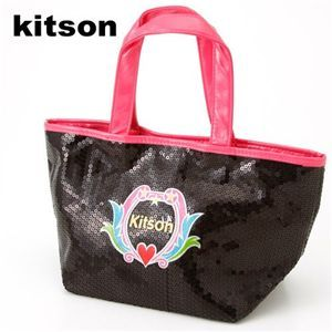 Kitson(キットソン) Sequin Mini Tote 3920 ブラック×ピンク - 拡大画像