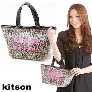 kitson(キットソン) レオパード柄 スパンコール ミニトートバッグ 4003 LEOPARD - 拡大画像