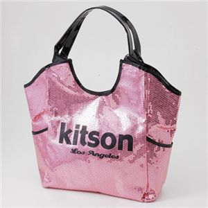 kitson(キットソン) SEQUIN トートバッグ 3375 PINK/BLACK - 拡大画像