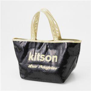 kitson(キットソン) スパンコール ミニトートバッグ【SEQUIN MINI TOTE】3563 BLACK/GOLD Mini - 拡大画像