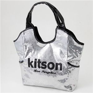 kitson(キットソン) スパンコール バッグ SEQUIN BAG Silver×Black - 拡大画像