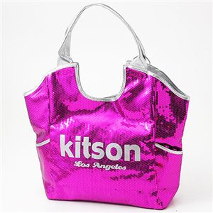 kitson(キットソン) スパンコール バッグ SEQUIN BAG Fuchsia×Silver - 拡大画像