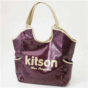 kitson(キットソン) スパンコール バッグ SEQUIN BAG Burgundy×Gold - 拡大画像