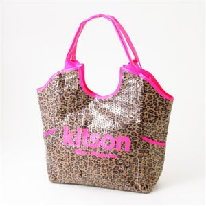 kitson(キットソン) レオパード柄 スパンコールバッグ SEQUIN TOTE BAG LEOPARD Pink×Pink - 拡大画像