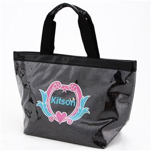 kitson(キットソン) クレスト グリッター トート BLACK - 拡大画像