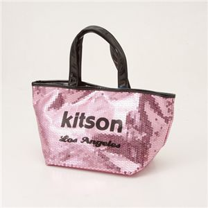 kitson(キットソン) スパンコール ミニトートバッグ SEQUIN MINI TOTE Pink×Black - 拡大画像