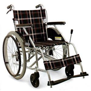 お急ぎの方用2 アルミ軽量車椅子 自走式【非課税】