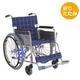 【消費税非課税】自走式 アルミ軽量 車椅子 AA-16 座幅40cm 紺チェック - 縮小画像1