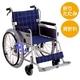 【消費税非課税】自走介助式 車椅子 ABA-01 座幅42cm 紺チェック - 縮小画像1