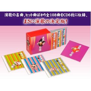 邦楽 オムニバス CDアルバム 【演歌夢劇場】 (CD6枚組 全108曲)歌詞カード 収納BOX付 - 拡大画像