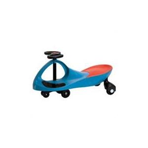 【電池もペダルもない】プラズマカー(乗用玩具 スイングカー)ブルー 組立て式 - 拡大画像