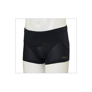 asics(アシックス)腰バランスショートタイツ メンズ ブラック Lサイズ - 拡大画像