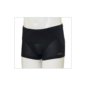 asics(アシックス)腰バランスショートタイツ メンズ ブラック Oサイズ - 拡大画像