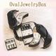 オーバル ジュエリーボックス ブラック - 縮小画像1