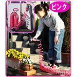 ガーデンコイルホース スタンドセット ピンク