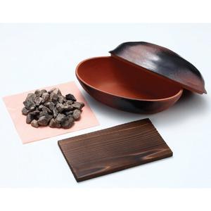 電子レンジで石焼きいも鍋天然石使用日本製