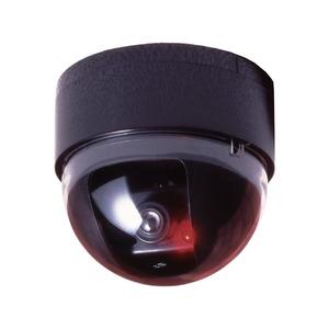 ドーム型防犯ダミーカメラ CDSセンサー/LEDランプ付き (防犯対策) - 拡大画像