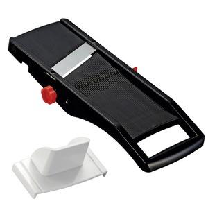 日本製スライサー 切り方3種類(スライス・千切り・ツマ切り)/厚さ調整可 安全ホルダー付き