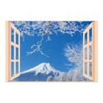 お風呂のポスター四季彩 雪富士