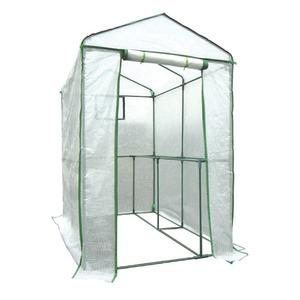 家庭用ビニールハウス(簡易温室) 「グリーンジャンボ」 ファスナー式 メッシュ窓付き 高さ190cm - 拡大画像
