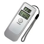 デジタルアルコールテスター(高精度飲酒検知器) 時計/目覚まし/温度計付き