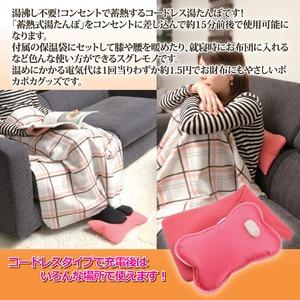 充電式コードレス湯たんぽ/やわらか〜湯たんぽ 専用保温袋付き